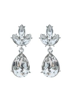 SNÖ of Sweden Noemi Drop Earrings Silver/Clear Bubbleroom.se