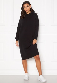 Noisy May Helene L/S Sweat Dress Black Bubbleroom.se