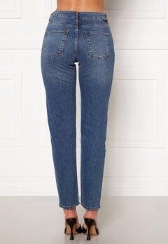Noisy May Jenna NW Straight Jeans Medium Blue Denim Bubbleroom.se