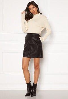 Noisy May Kelly NW PU Skirt Black Bubbleroom.se