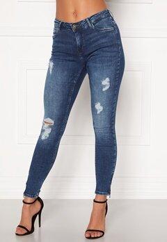 Noisy May Kimmy NW Ankle Jeans Medium Blue Denim Bubbleroom.se