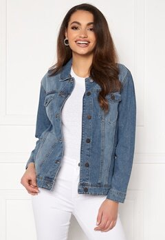 Noisy May Ole L/S Med Denim Jacket Medium Blue Denim Bubbleroom.se