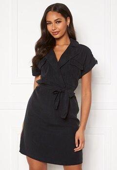 Noisy May Vera S/S Tencel Shirt Dress Black Bubbleroom.se