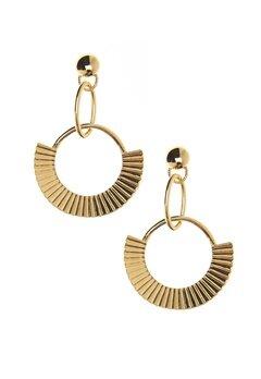 NORR by Erbs Nila Earrings Gold Bubbleroom.fi