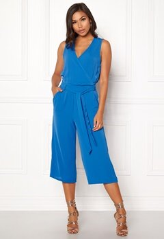 ONLY Nova S/L Wrap Jumpsuit Palace Blue Bubbleroom.se