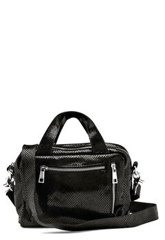 Nunoo Donna Snake Leather Bag Black w.Diamonds Bubbleroom.se
