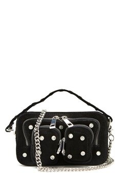 Nunoo Helena Flash Leather Bag Black w.Diamonds Bubbleroom.se
