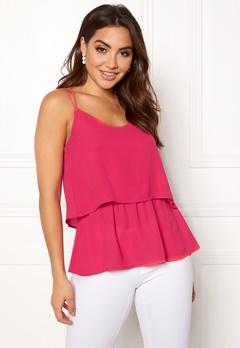 OBJECT Aniston S/L Top Bright Rose Bubbleroom.se