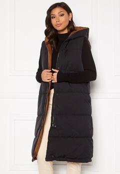 OBJECT Aria S/L Hoodie Vest Black Bubbleroom.se