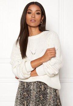 OBJECT Arianna L/S Knit Pullover Gardenia Bubbleroom.se
