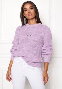 OBJECT Arianna L/S Knit Pullover Orchid Bloom Bubbleroom.se