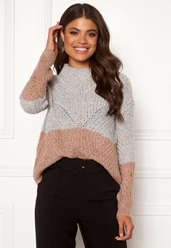 OBJECT Aya Love LS Knit Pullover Gardenia Bubbleroom.se