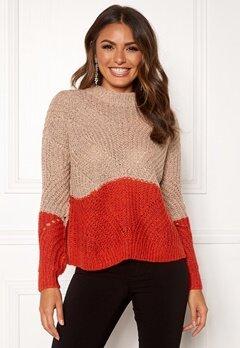 OBJECT Aya Love LS Knit Pullover Misty Rose Bubbleroom.se