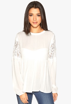 OBJECT Beate L/S Shirt Egret Bubbleroom.fi