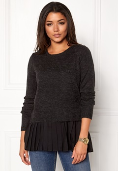 OBJECT Bell Pullover Black Bubbleroom.eu