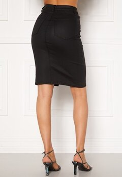 OBJECT Belle Supercoated Slit Skirt Black Bubbleroom.se