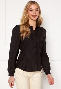 OBJECT Carla Coated Shirt Black Bubbleroom.se