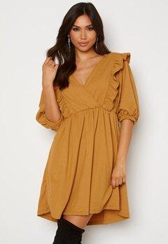 OBJECT Carolyn S/S Dress Honey Mustard Bubbleroom.se