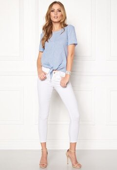 OBJECT Cecilia s/s Top Chambray Blue Bubbleroom.se