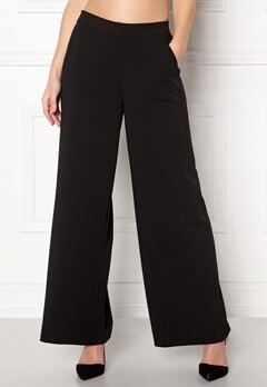 OBJECT Cecilie Wide Leg Pant Black Bubbleroom.se
