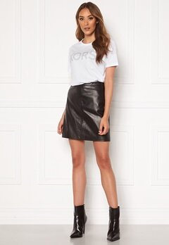 OBJECT Chloe Leather Skirt Black Bubbleroom.se