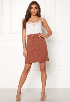 OBJECT Clarissa Short Skirt Brown Patina/Dots Bubbleroom.se