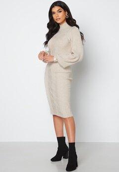 Object Collectors Item Makenzy Knit Dress Silver Gray bubbleroom.se