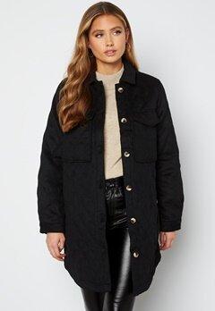 Object Collectors Item Vera owen long quilt jacket Black Bubbleroom.se