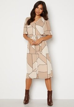 OBJECT Consilia S/S Dress Humus AOP Bubbleroom.se
