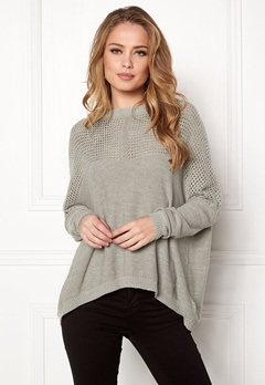 OBJECT Darren L S Knit Pullover Light Grey Melange Bubbleroom.eu 3d0aac13f6