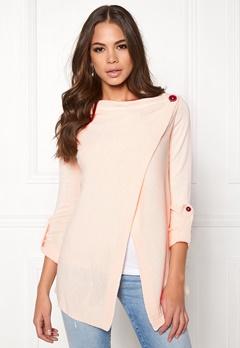 OBJECT Deanna L/S Knit Cardigan Pink Champagne Bubbleroom.fi