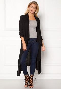 OBJECT Deanna Knit Long Cardigan Medium Grey Melange Bubbleroom.dk