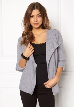 OBJECT Deanna Mynthe Cardigan Light Grey Melange Bubbleroom.fi