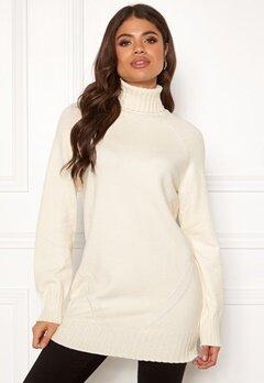 OBJECT Elina L/S Knit Tunic Gardenia Bubbleroom.se