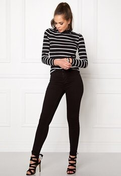 OBJECT Elona L/S Rollneck Top Black Bubbleroom.fi