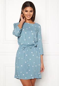 OBJECT Evie Vera Dress Stone Blue Bubbleroom.se