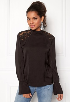 OBJECT Fae L/S Lace Top Black Bubbleroom.fi