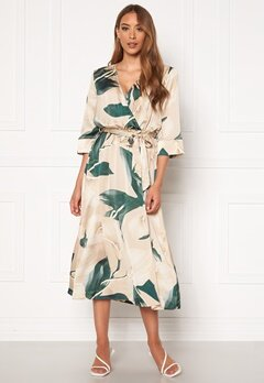 OBJECT Fania 3/4 Dress Humus AOP: Lily Bubbleroom.se