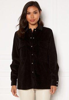 OBJECT Freja L/S Shirt Jacket Black Bubbleroom.se