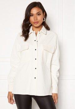 OBJECT Freja L/S Shirt Jacket Cloud Dancer Bubbleroom.se