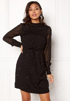 OBJECT Gabrielle L/S Dress Black Bubbleroom.se