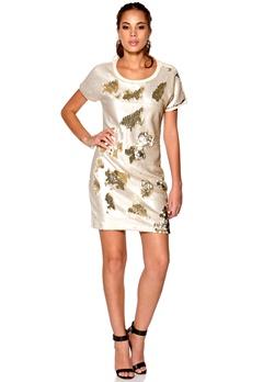 OBJECT Greta Sweat Dress Egret Bubbleroom.no