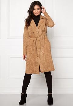 OBJECT Hannah Faux Suede Jacket Cognac Bubbleroom.se