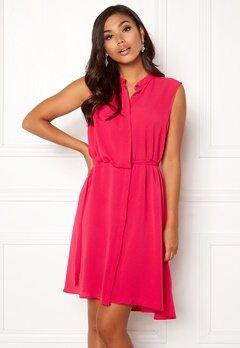 OBJECT Hastings S/L Dress Bright Rose Bubbleroom.se
