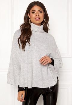 OBJECT Joy Knit Poncho Light Grey Melange Bubbleroom.se