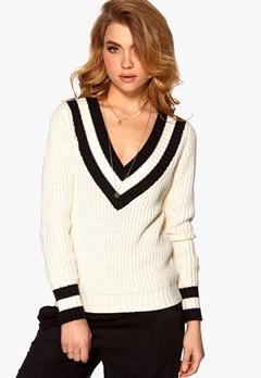 OBJECT Kamille X Knit Pullover Egret Bubbleroom.se