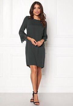 OBJECT Kathrine 3/4 Dress Asphalt Bubbleroom.se