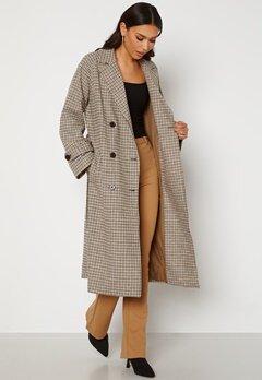OBJECT Keily L/S Coat Sepia Check Bubbleroom.se