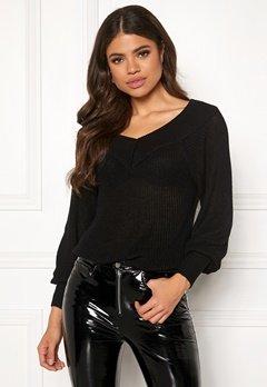OBJECT Landaz L/S Knit Pullover Black Bubbleroom.se