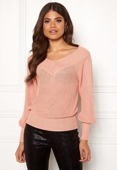 OBJECT Landaz L/S Knit Pullover Misty Rose Bubbleroom.se